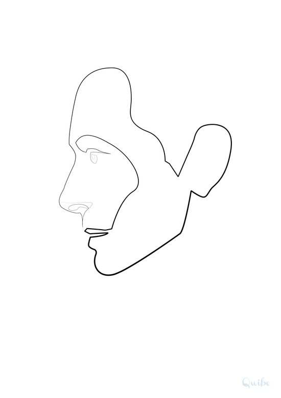One Line Tilda Swinton Canvas Print
