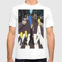 Bea(tles)mpson Mens Fitted Tee White SMALL