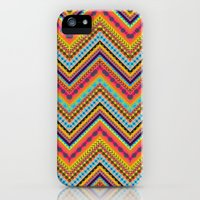 iPhone 5s & iPhone 5 Cases featuring Tribal Chevron by Amy Sia