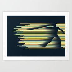 Olympic Javelin Art Print