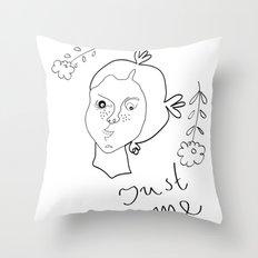 Just me Throw Pillow