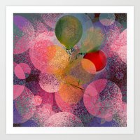 BALLOON LOVE  - Wish To … Art Print