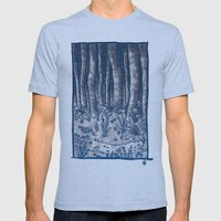 Oregon Forest Mens Fitted Tee Athletic Blue SMALL