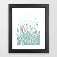 Pink Corn Framed Art Print