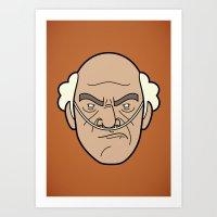 Faces Of Breaking Bad: H… Art Print