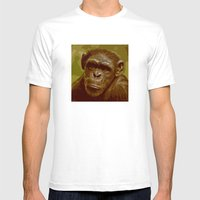 Camo Monkey! Mens Fitted Tee White SMALL