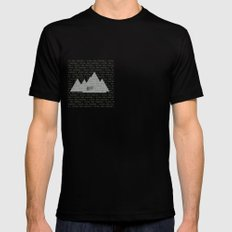 Official Trial Mountain SMALL Black Mens Fitted Tee