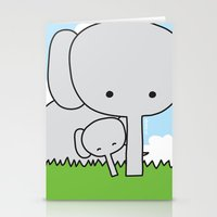 Mommy Elephant Stationery Cards