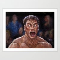 JCVD Screaming his F--king Face  Art Print
