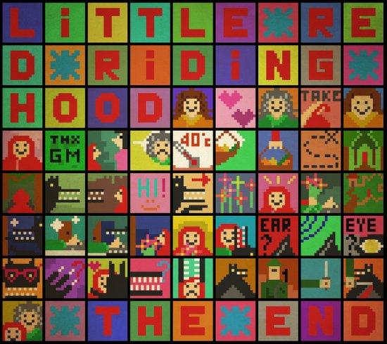 little red riding hood pixel story Art Print