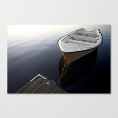 Boat on a sea Canvas Print