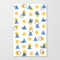 Random Geometric Canvas Print