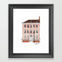 Queens Square Bristol by Charlotte Vallance Framed Art Print