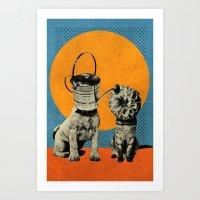 Cats&Dogs Art Print