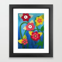 Dancing Flowers Framed Art Print