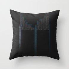 Cliffs Of The Diving Rain Throw Pillow