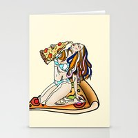 Pizza Girl Stationery Cards