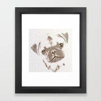 The Intellectual Pug Framed Art Print