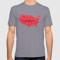 Get Lost Mens Fitted Tee Slate SMALL