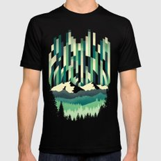Sunrise in Vertical - Winter Blues SMALL Mens Fitted Tee Black