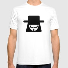 v vendetta Mens Fitted Tee White SMALL