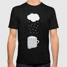 It's Raining Marshmallow… Mens Fitted Tee Tri-Black SMALL