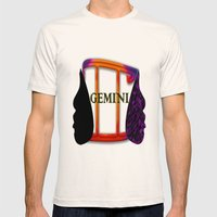 Gemini Mens Fitted Tee Natural SMALL