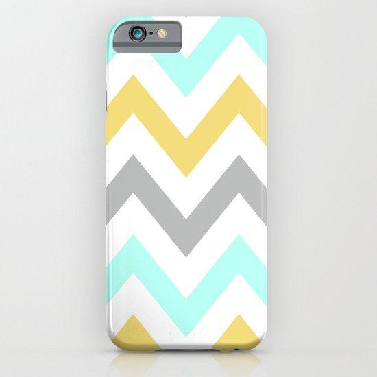 BLUE/GRAY/YELLOW CHEVRON iPhone & iPod Case