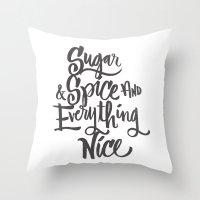 SUGAR & SPICE Throw Pillow