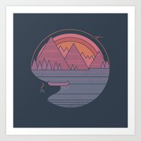 The Mountains Are Callin… Art Print