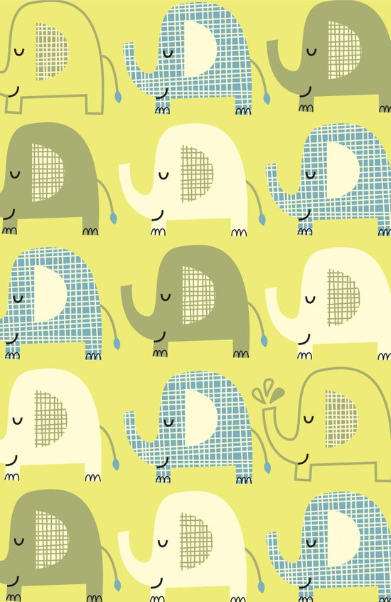 E is for Elephant Art Print