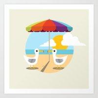 Beach Day  Art Print
