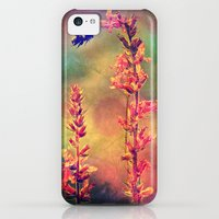 iPhone 5c Cases featuring Bee N Wildflowers Diamond Earth Tones by minx267