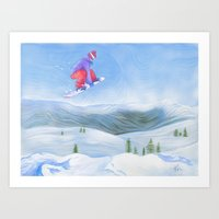 Winter Flight - Drawing … Art Print