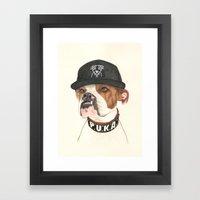 Boxer dog - F.I.P. - @chillberg (#pukaismyhomie)  Framed Art Print