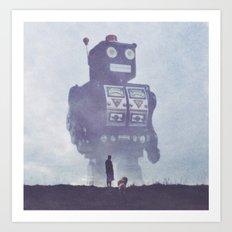 BEWARE THE GIANT ROBOTS! Art Print
