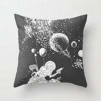 rocket lass Throw Pillow
