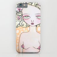 iPhone & iPod Case featuring Clementine dressed in orchids by Braidy Hughes