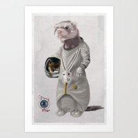 Ferreting In Space Art Print