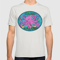 The Krunk Kraken  Mens Fitted Tee Silver SMALL