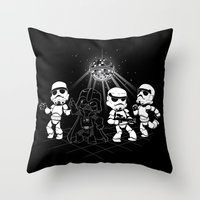 Dark Side Disco Dancing Throw Pillow