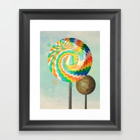 This Is No Lollipop Framed Art Print