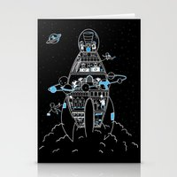 Interstellar Travels Stationery Cards