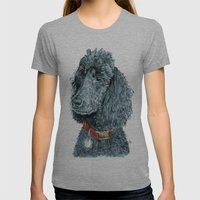 Whitney The Poodle Womens Fitted Tee Athletic Grey SMALL