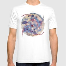 Spiral Stare Face White SMALL Mens Fitted Tee