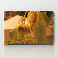 The Sun has Set and tomorrow, God willing, it will rise again [SUNFLOWER] [WILTING] [YELLOW SKY]  iPad Case