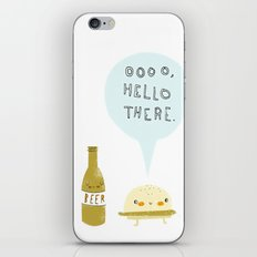 burger and beer iPhone & iPod Skin