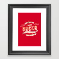 Enduro Racer Framed Art Print