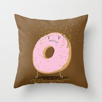 Itchy Donut Throw Pillow