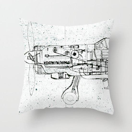 FW - 190 ( B & W) Throw Pillow